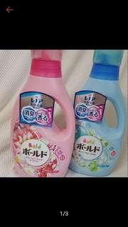 🚚 日本 P&G BOLD 花香柔軟洗衣精 容量850g/瓶 產地日本 藍色-水漾清香柔軟除臭洗衣精 粉色-芳療花香除臭洗衣精