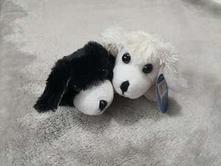 Cute Furry Animals Pull My Tail dog puppy mini plushor stuffed toys