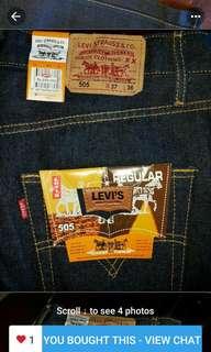 Jeans Levis 505  baru jual murah