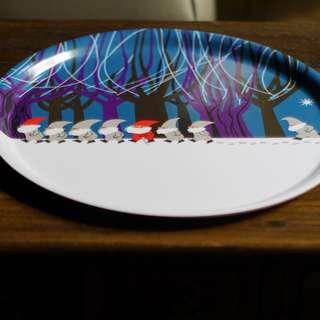 🚚 Åry Trays 北歐瑞典進口家飾精品 | 耶誕小矮人 白樺木托盤Ø 38cm