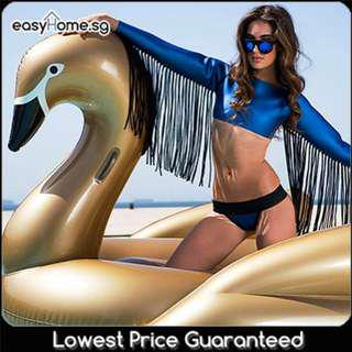 🚚 Gold Swan - Adult Inflatable Giant Float Swimming Pool Party