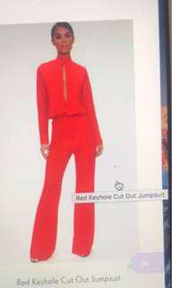 Red jumpsuit brand new