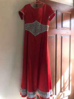 dress baju pesta gown