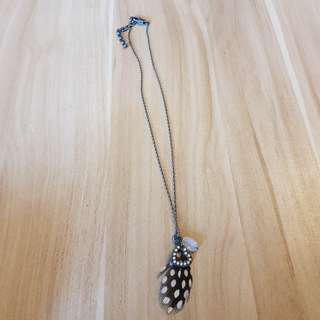 羽毛頸鏈20.5cm長 鏈咀3.5cm(包普通郵寄)