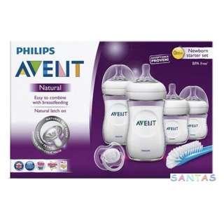 Philips AVENT Natural Newborn 6 pcs Starter Set 新生嬰兒闊口PP奶樽 6件套裝