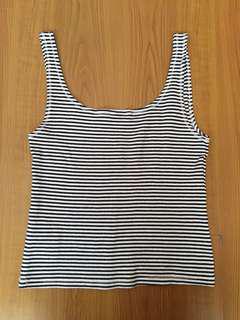 Zara Striped Sleeveless Top (S)