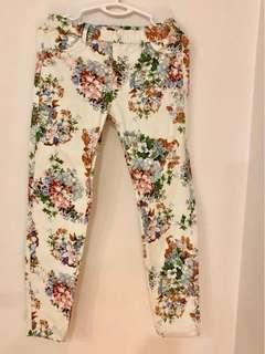 Decluttering wardrobe-Mango floral pants
