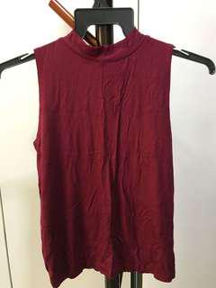 Brand new wine-red tank top