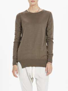 Bassike Wool/Cashmere Knit Sweater in Walnut - Size 0 (6-8) BNWT RRP $350