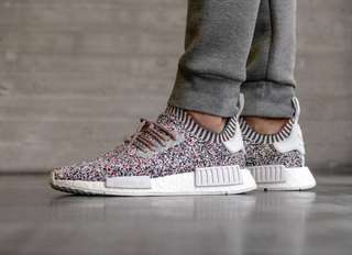 Brand New Authentic Adidas NMD r1 primeknit color static
