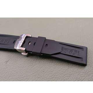 24mm錶帶 膠帶 (OAD防粘毛) 代用品 PANERAI x FERRARI (ref:2422PANxFER蝴蝶扣膠帶)