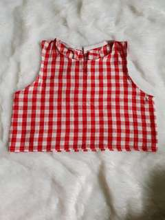 Gingham crop top for kids (4-7 yrs old)