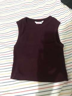 Supre maroon crop top