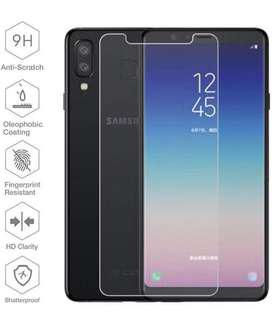 Samsung Galaxy A8 Star 2018 透明鋼化防爆玻璃 保護貼 9H Hardness HD Clear Tempered Glass Screen Protector (包除塵淸㓗套裝)(Clearing Set Included)