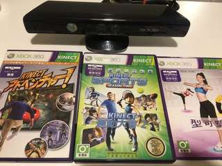 Kinect Xbox 360 + 3 Games