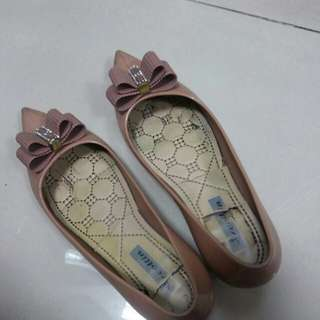 Jelly shoes coklat size 40