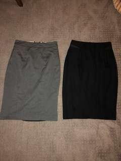 Work pencil skirts. High waisted