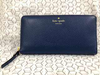 Kate Spade Atlantic Blue Leather Wallet