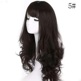 Cosplay Wig Long Black Hair Washable Curly