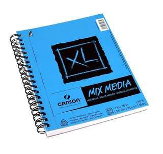 """Instock: 60shts 160gsm (98 lb) Canson XL Mix Media Paper Pad (7""""×10"""")"""
