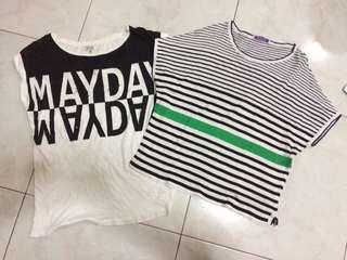 stripes may day shirt IDR 80K