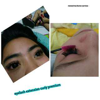 Eyelash extension curly silk