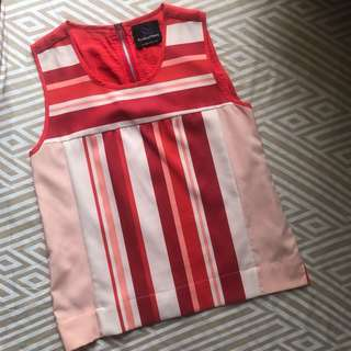 Plains & Prints Sleeveless Top - PreLoved with flaw