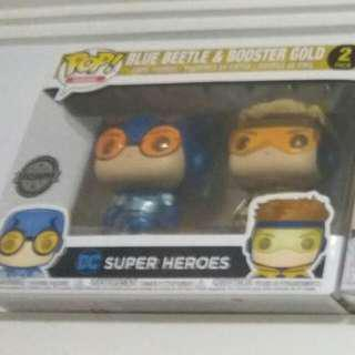 Blue beetle and buster gold exclusive pop (reserved)