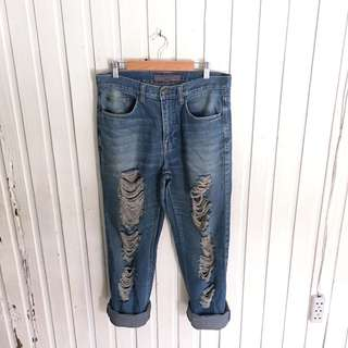 Giordano HW Ripped Jeans