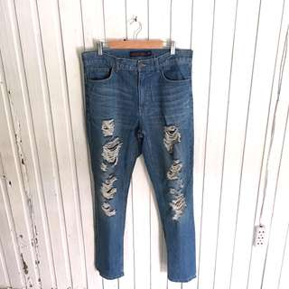 Giordano Mom Ripped Jeans
