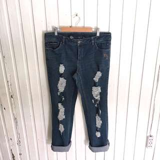 Plus size Harley Davidson Ripped Jeans