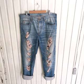 Blue blood brand Button-down Ripped Jeans