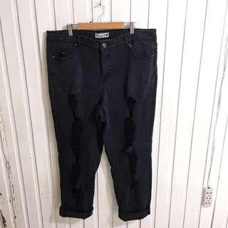 Plus size Justmysize Black Skinny Ripped Jeans