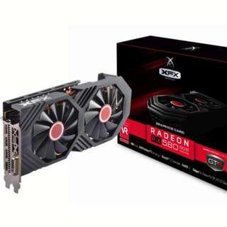 AMD XFX Radeon RX 580 DirectX 12 RX-580P8DFD6 XXX Edition 8GB 256-Bit DDR5 PCI Express 3.0 CrossFireX Support Video Card