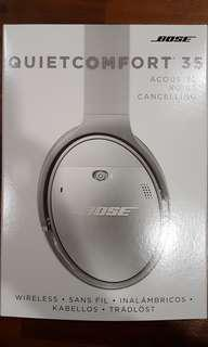 Bose QC35 noise cancelling wireless headphones