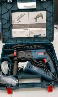 Bosch Rotary hammer drill + grinder combo set