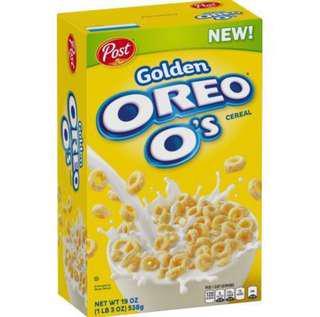 Post Golden Oreo O's Breakfast Cereal 19oz