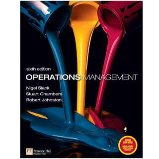 Operations Management (Sixth Edition) [E-book]