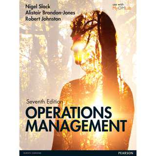 Operations Management (seventh edition) [E-book]