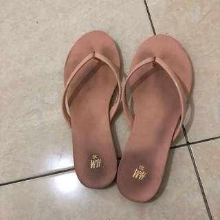 H&m flip flop pink sekali pakai