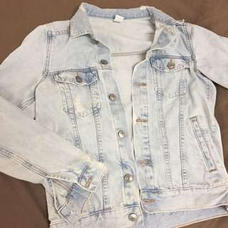 Acid Wash Denim Jacket XS to S