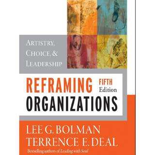 Reframing Organization (Fifth edition) [E-book]