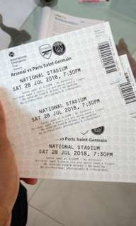 🚚 Arsenal vs PSG ticket