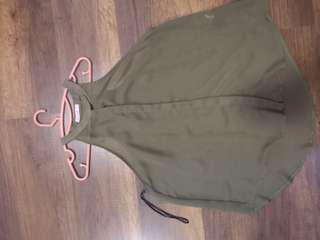Supre army green halter top