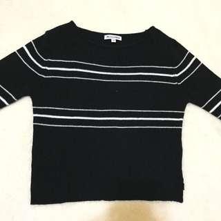 Colorbox Crop Black Sweater
