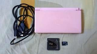 Nintendo DS Lite~ Pink Color. INCLUDES R4 CARD 1GB( 16 GAMES!!! ) & USB CHARGING CABLE FOR NDS Lite!!!. **⚠ NO MARIO GAMES!!! 😅😊**.  100% WORKING NDS Lite!!!. 100% NO PROBLEM!!!.  80% CONDITION OF CONSOLE!!!  ** PLEASE REPLY IN ENGLISH!!! 🤗 **