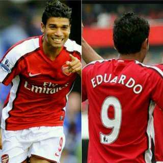 🚚 Authentic Nike Arsenal Eduardo 9 Jersey Size L