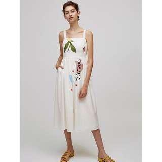 Our Second Nature White Dress Midi