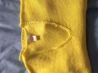 H&M cropped lemon sweatshirt