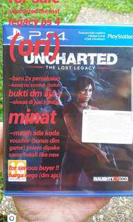 "Kaset PS 4 DVD BD ""uncharted the lost legacy"""
